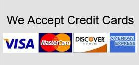 We accept credit cards for garage door repair services